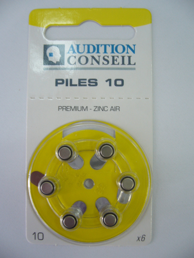 PILES AUDITIVES 10 AUDITION CONSEIL - Piles auditives - Audition Conseil - Voir en grand