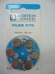 PILES AUDITIVES 675 AUDITION CONSEIL  - Piles auditives - Audition Conseil - Voir en grand