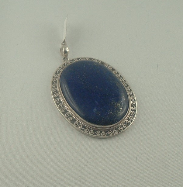 Pendentif Lapi lazuli - les pendentifs - ATELIER LE BERY'L - Voir en grand