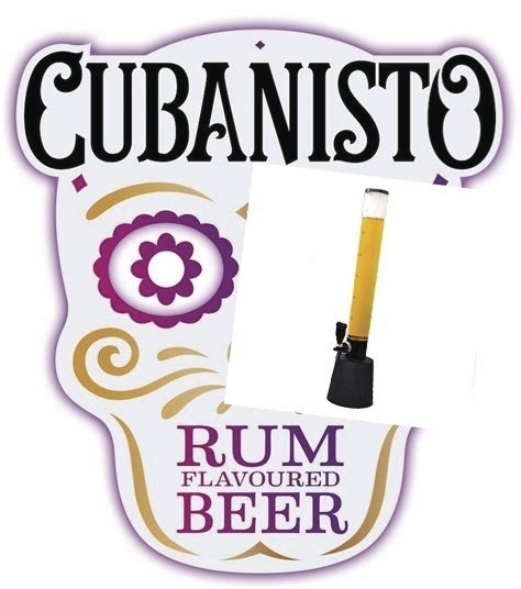 Girafe 2l5 Cubanisto  - BIERES interdit - 18 ans - Cubana Bar - Voir en grand