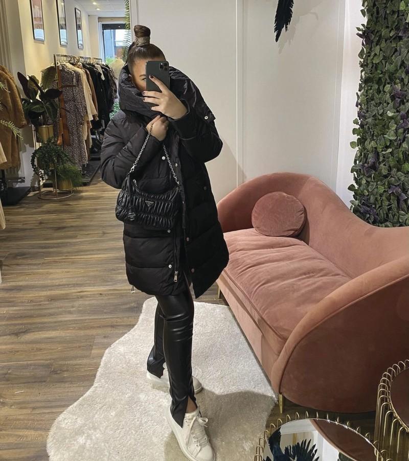 doudoune noire - mode femme - IKONE - Voir en grand