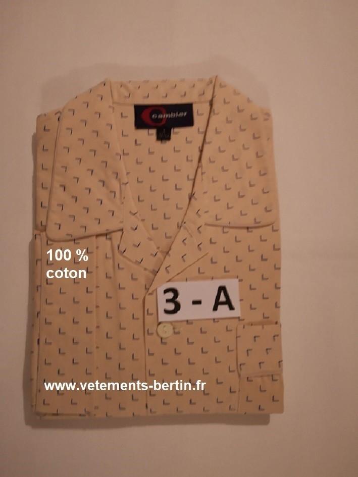Pyjama homme grande taille, numéro 1 à 5 + n° 3 - A, composition, www.vetements-bertin.fr     - Voir en grand