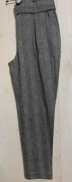 Pantalons Chino carreaux paperbag - 4.jpeg - Voir en grand