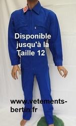Combinaison de Travail en coton, couleur bleue jusqu' à la Taille 12. - Voir en grand