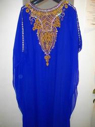 Robe Dubai Bleu roi  - Voir en grand
