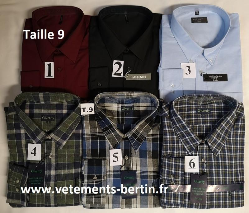 Chemises tailles 9, Internet, www.vetements-bertin.fr - Voir en grand