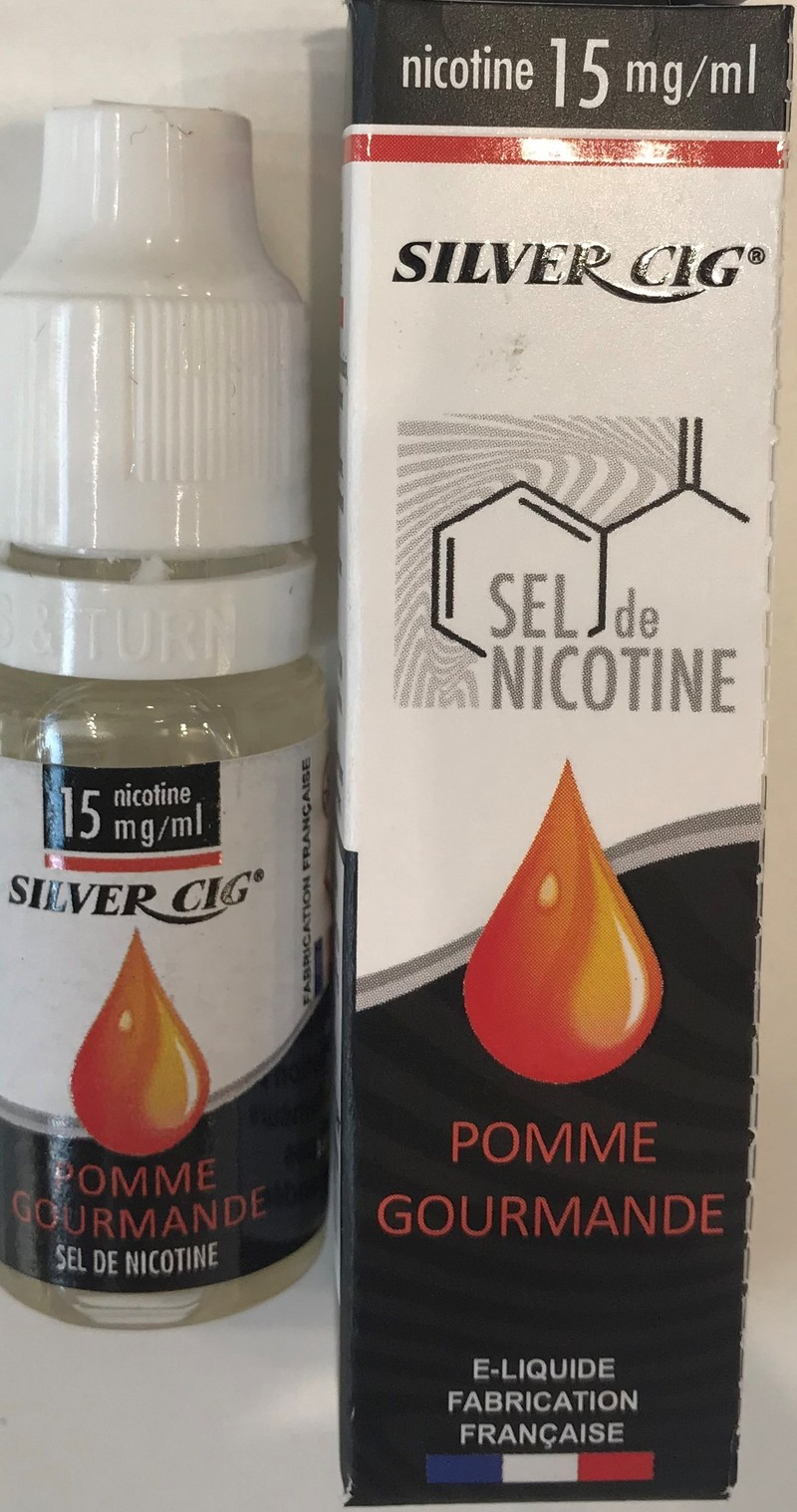 E-liquide Sel de nicotine Pomme gourmande - SILVER CIG - LE BRAZZA  - Voir en grand