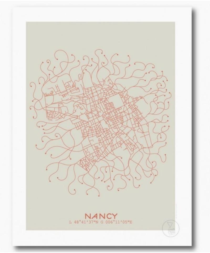 Plan Nancy Beige  - Voir en grand