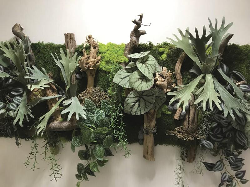 Tableau végétal dans un couloir d'entreprise - Voir en grand