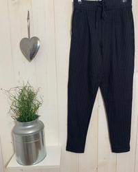 Pantalon femme Only Poptrash Noire fine rayures argentées - Pantalons - INSTAGLAM