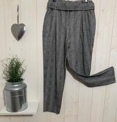 Pantalons Chino carreaux paperbag - Pantalons - INSTAGLAM