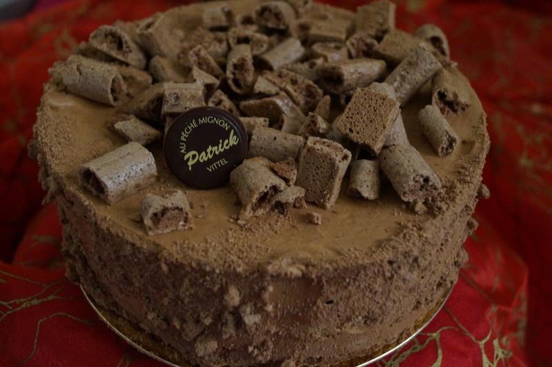 bitter meringue chocolat et mousse au chocolat - Voir en grand