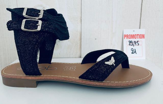 Les P'tites Bombes Valentine, Sandale Femme Noir - Sandales - INSTAGLAM - Voir en grand