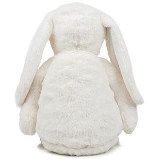 Peluche lapin blanc à personnaliser brodée - Voir en grand