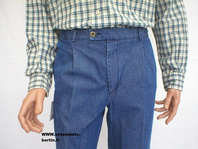 Jeans homme grande taille très confortable - Voir en grand