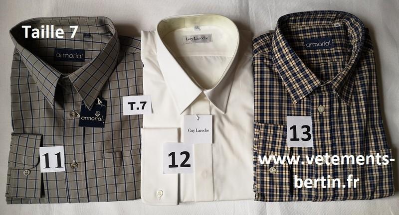 Chemises, Taille 7, Internet, www.vetements-bertin.fr - Voir en grand