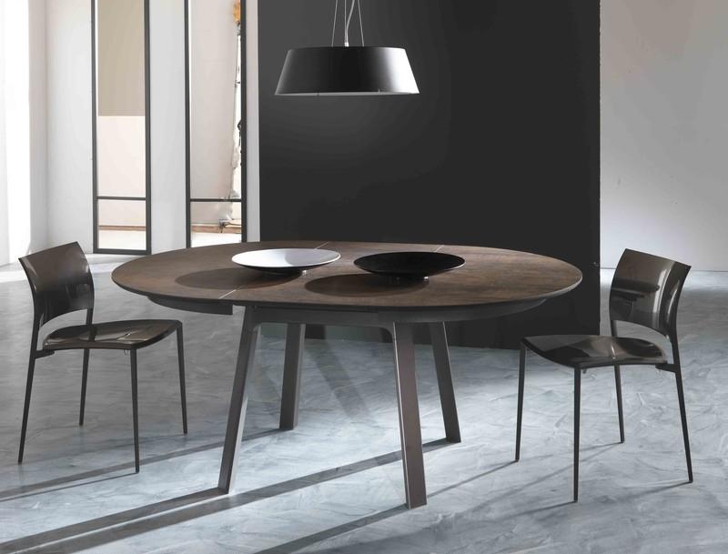 table ceramique eloise et photos table ronde stylirex. Black Bedroom Furniture Sets. Home Design Ideas