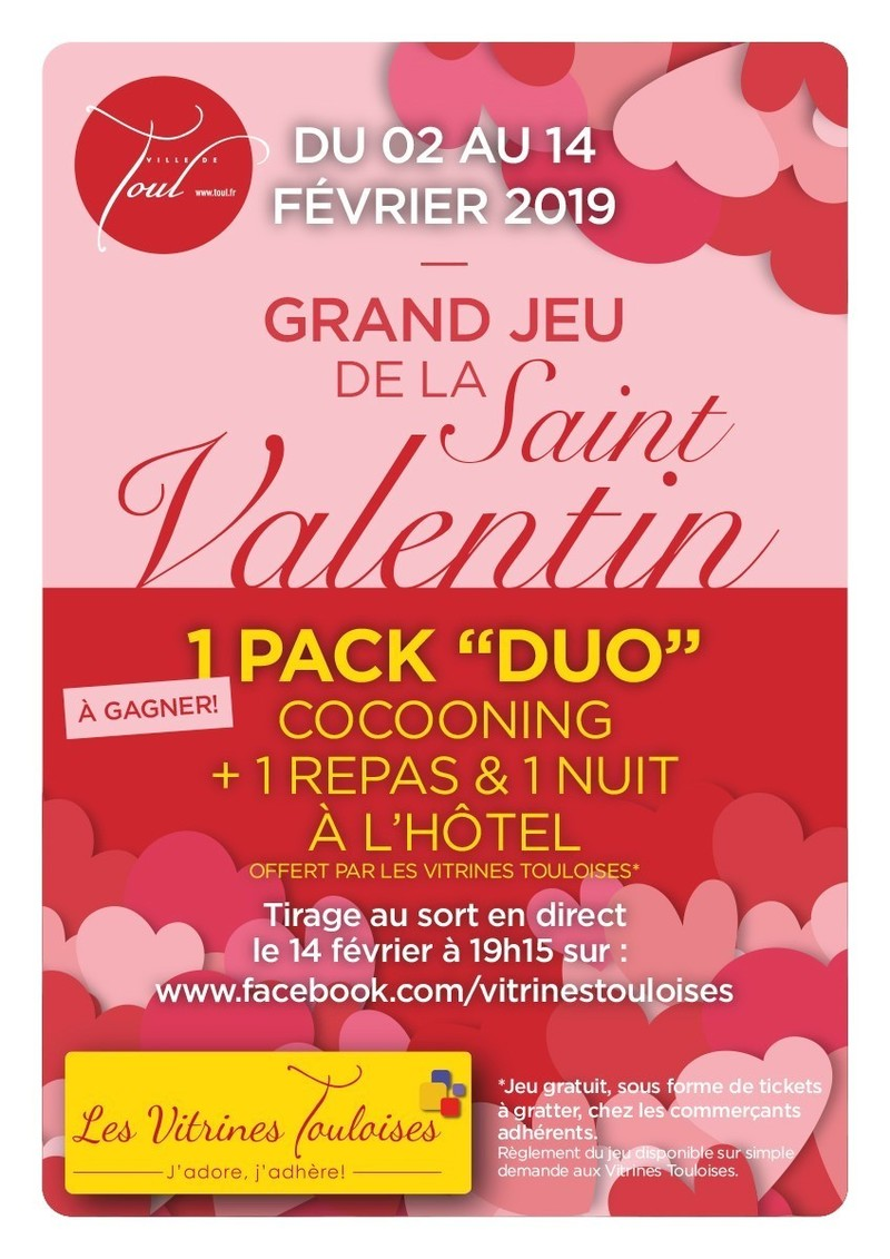Saint valentin 2019 - Vitrines Touloises  - Voir en grand