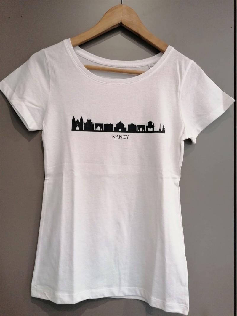 T-shirt 2XL blanc femme Lettre Shop - T-shirt - Les Vitrines de Nancy  - Voir en grand