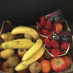 Un fruit à la récrée - Box's fruits au bureau - AUX QUATRE SAISONS - Voir en grand