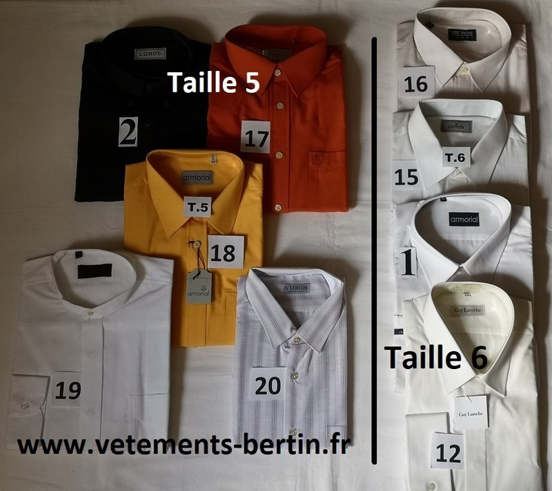 Chemises, Taille 5 et Taille 6, Internet, www.vetements-bertin.fr - Voir en grand