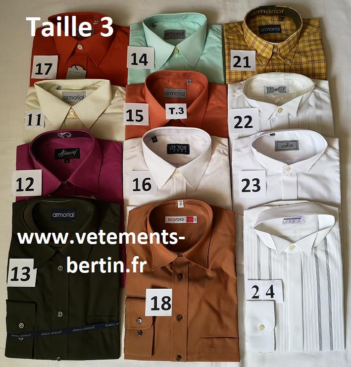 Chemise, Taille 3, Internet, www.vetements-bertin.fr - Voir en grand