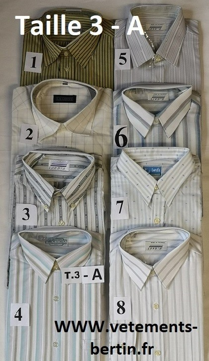 Chemises, Taille 3 - A, Internet, www.vetements-bertin.fr - Voir en grand