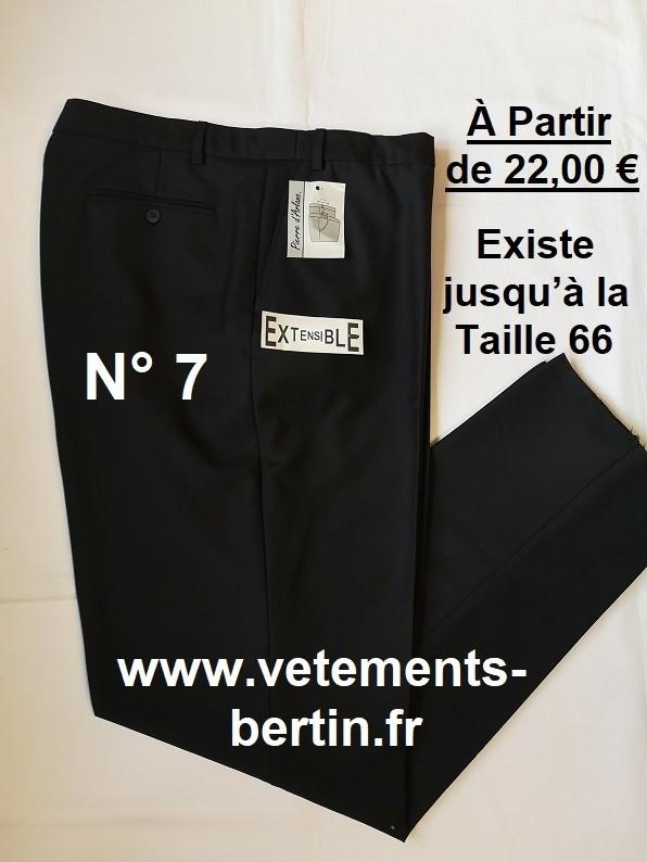 Pantalon Homme Habillé, Pyester - Laine - élasthanne,  N° 7, www.vetements-bertin.fr - Voir en grand
