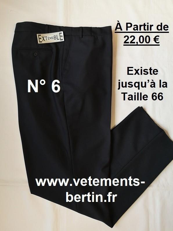 Pantalon Homme Habillé, Pyester - Laine et en + élasthanne pour les Tailles 62 et 64, pas d'élasthan - Voir en grand