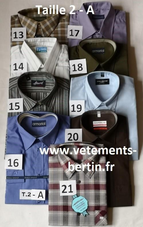Chemises, Taille 2 - A, Internet, www.vetements-bertin.fr - Voir en grand