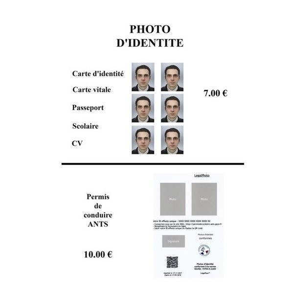 photo d u0026 39 identit u00e9   passeport  permis de conduire  cv