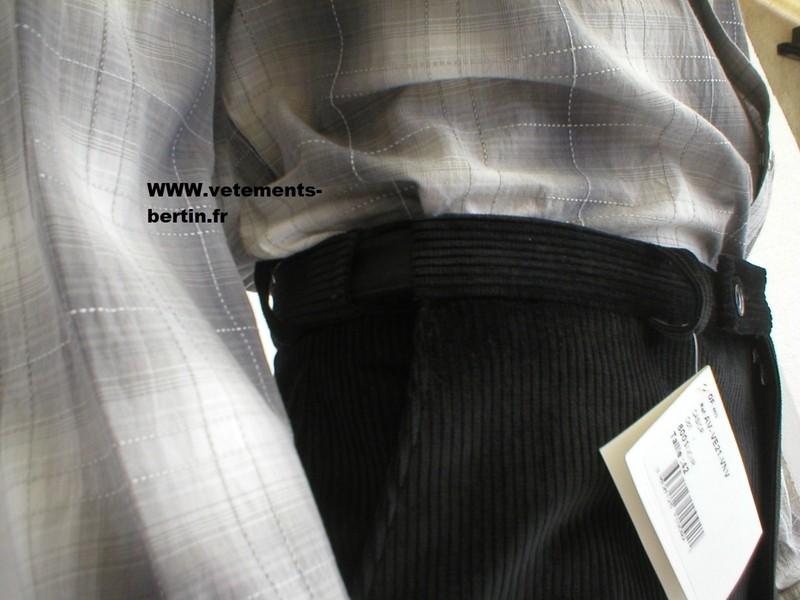 Pantalon homme grande taille, confortale, en velours - Voir en grand