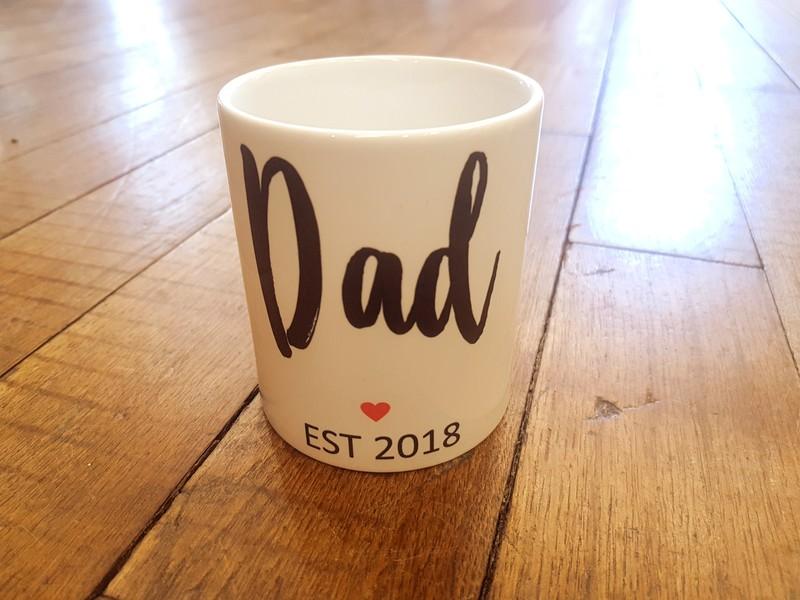 Mug tasse Dad date personnalisée - Voir en grand