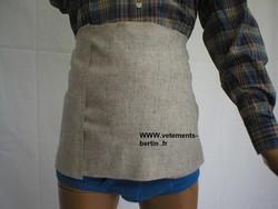 Chaleureuse cette ceinture de flanelle, fabriquée en France, 56% acryliq., 29% coton, 15% laine. - Voir en grand
