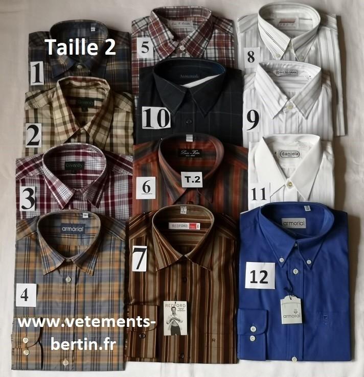 Chemises, Taille 2, Internet, www.vetements-bertin.fr - Voir en grand