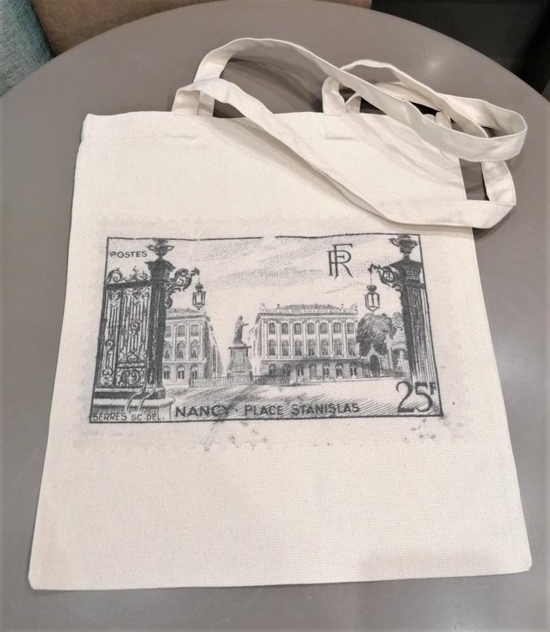 Tote Bag timbre Lettre Shop  - Sacs - Les Vitrines de Nancy  - Voir en grand