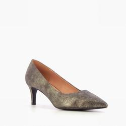 petit talon bronze  - escarpins - PLACE DES FILLES  - Voir en grand