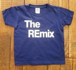 T-shirt bleu The remix - Voir en grand