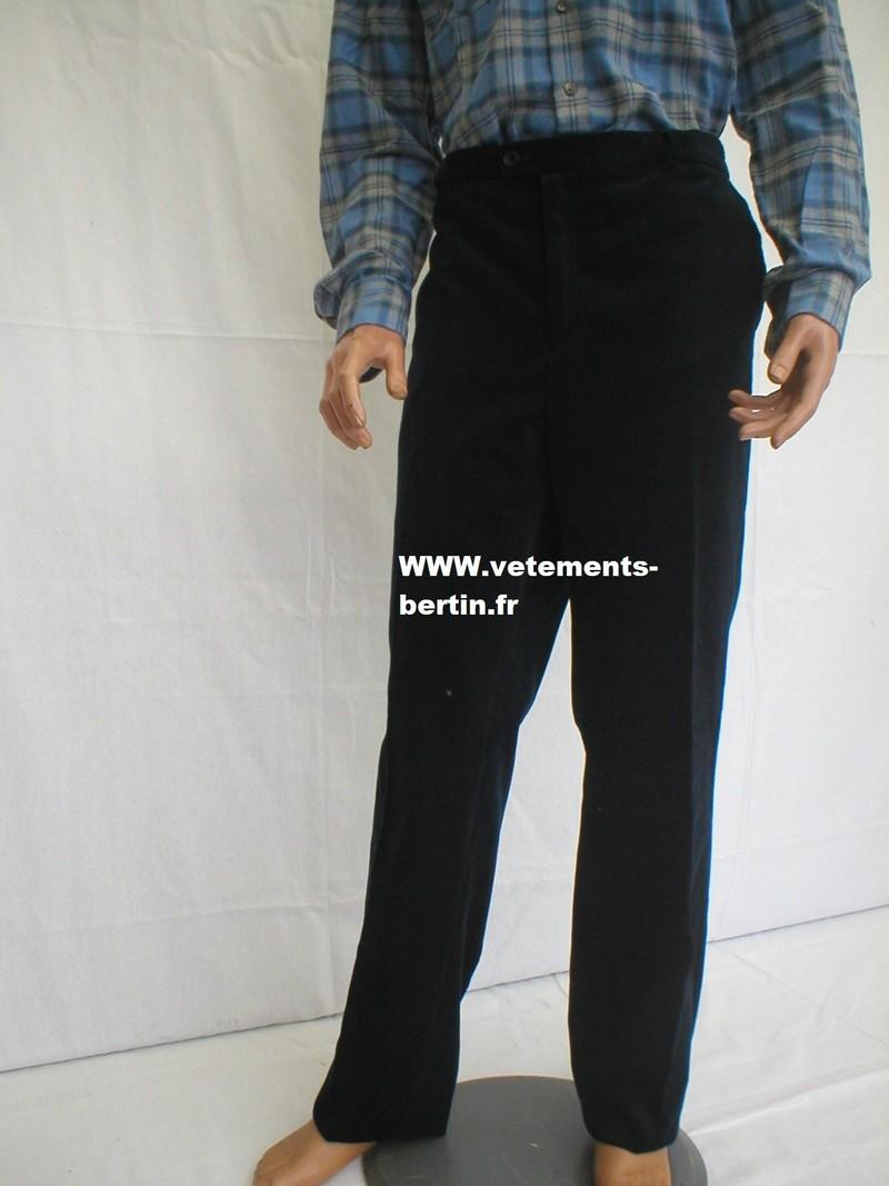 Pantalon velours, ceinture confort avec élastique sur le côté, confortable - Voir en grand