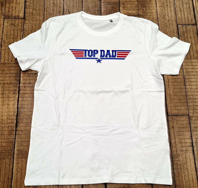 T-shirt blanc TOP DAD - Voir en grand