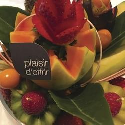 les vases - Corbeille de fruits frais Les vases - AUX QUATRE SAISONS - Voir en grand