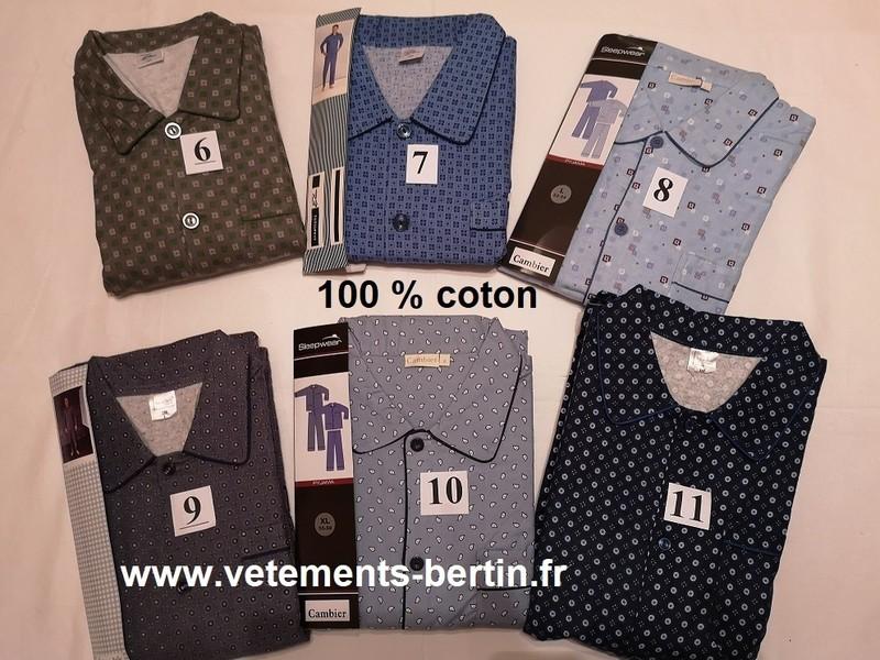 Pyjama homme grande taille, numéro 6 à 11, www.vetements-bertin.fr a   - Voir en grand
