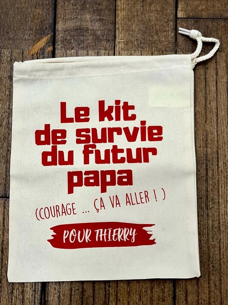 Le kit de survie du futur Papa courage ça va aller pour prénom  - Voir en grand