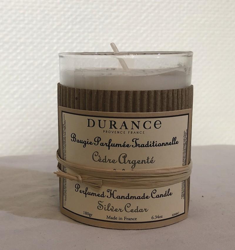 Bougie parfumée traditionnelle DURANCE Cèdre argenté  - Voir en grand