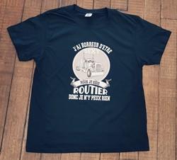 T-shirt personnalisé J'ai horreur d'être sexy mais je suis routier donc je n'y peux rien - Voir en grand