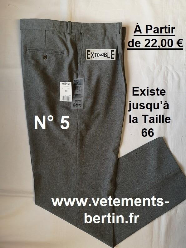 Pantalon Homme Habillé, 100 % Pyester, à Pinces, N°5,  www.vetements-bertin.fr - Voir en grand