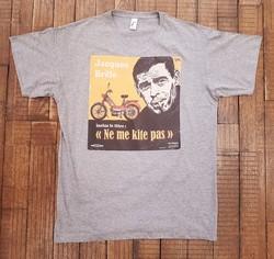 T-shirt gris Ne me kite pas - T-SHIRT PERSONNALISE A MESSAGE - TIME'S - CADEAUX PERSONNALISES - Voir en grand