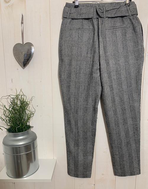 Pantalons Chino carreaux paperbag - 2.jpeg - Voir en grand