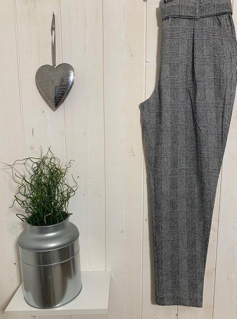 Pantalons Chino carreaux paperbag - 3.jpeg - Voir en grand