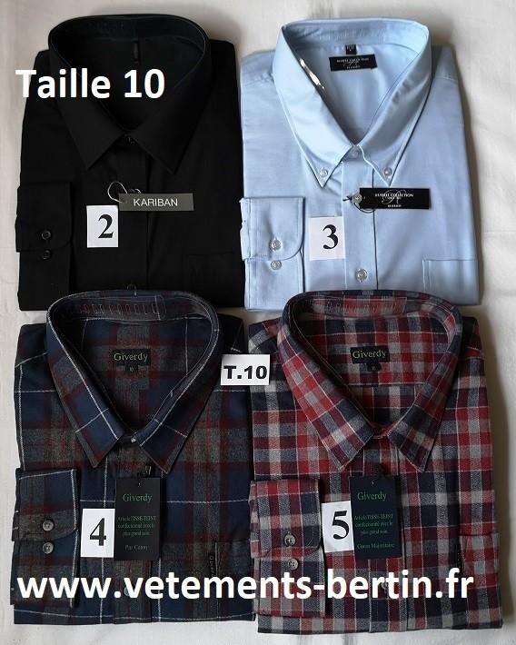 Chemises, Tailles 10, Internet, www.vetements-bertin.fr - Voir en grand